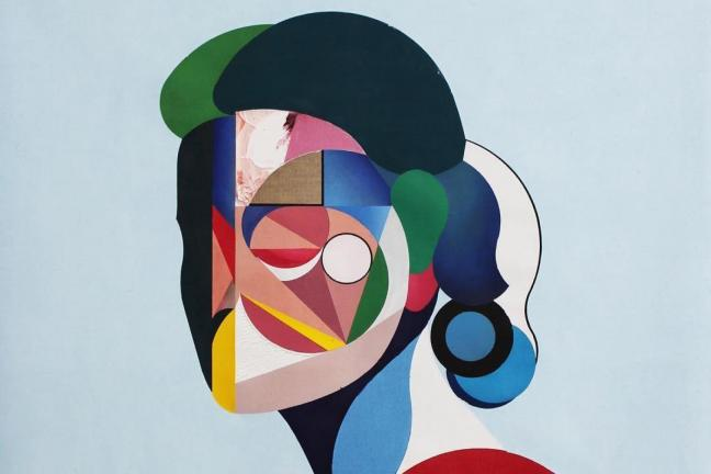 Portraits inspired by cubism