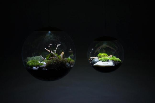 Lampa – terrarium Globe