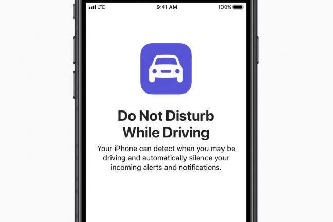 End with iPhone while driving