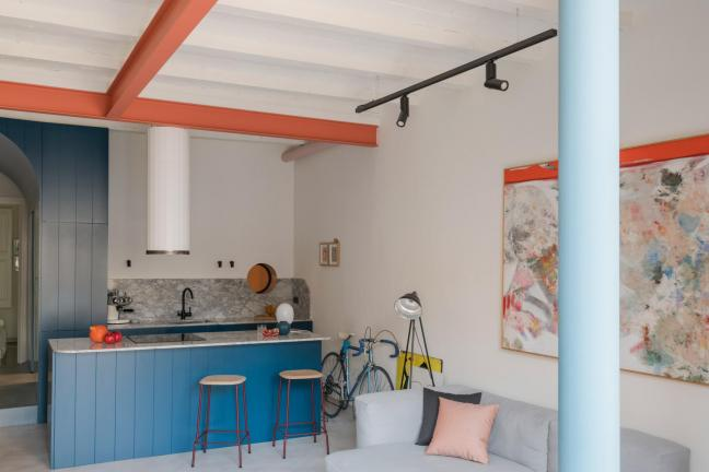 A colorful flat in Barcelona