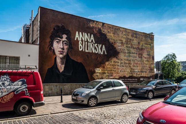 Mural z Anną Bilińską na Smolnej