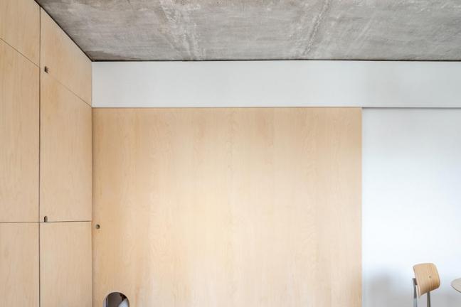 Paryskie mieszkanie ze sklejką w tle