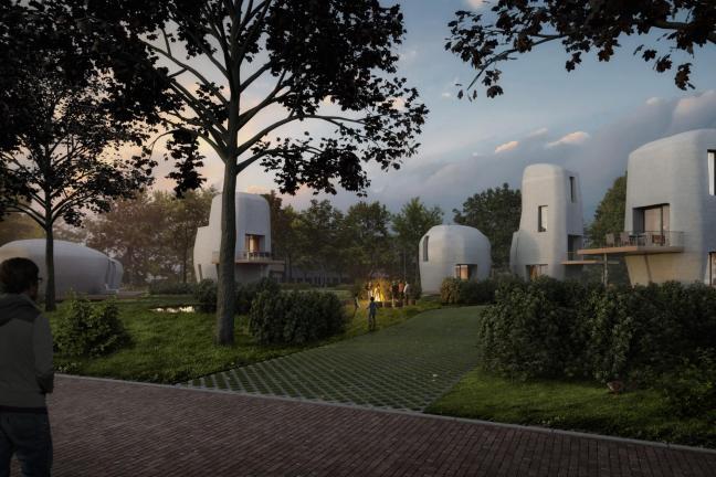 Betonowe domy-głazy drukowane w 3D