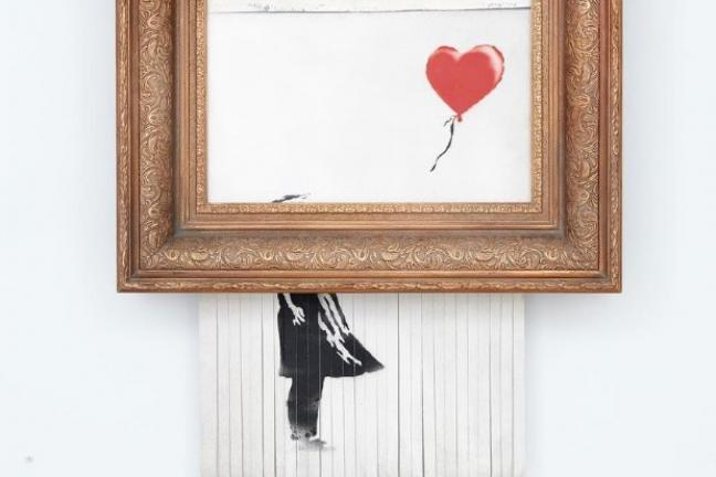 Banksy again named his work