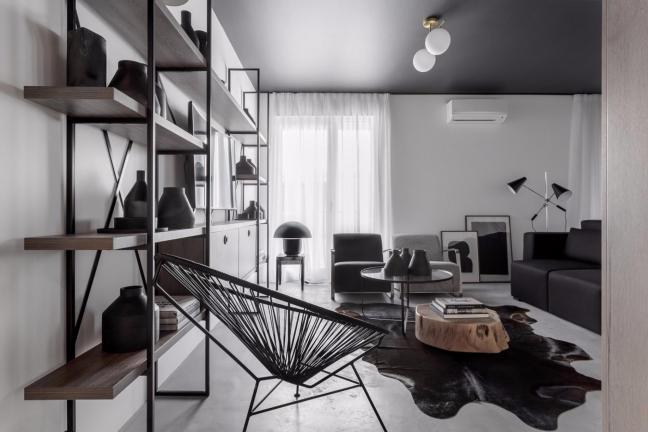 Mieszkanie w czerni i bieli