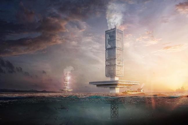 Pływający wieżowiec usunie śmieci z oceanów