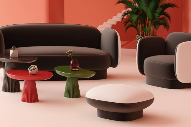 Sofa inspirowana twórczością Davida Bowiego