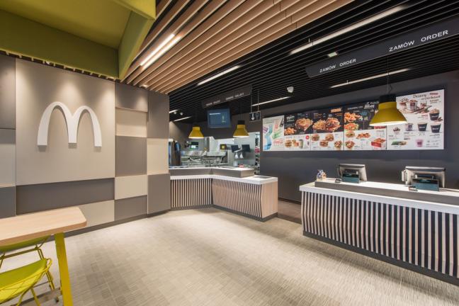 Pierwsza polska restauracja McDonald's z minimalistycznym wystrojem