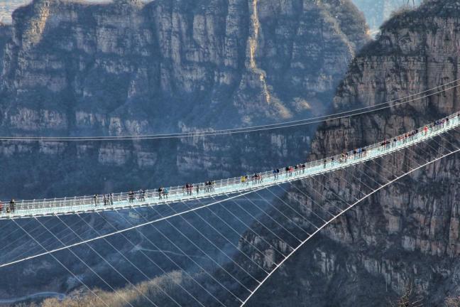 The longest glass hanging bridge in the world