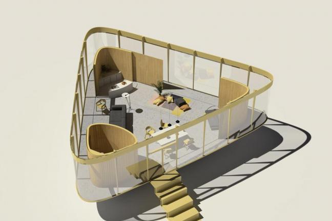 Letni dom z basenem na dachu