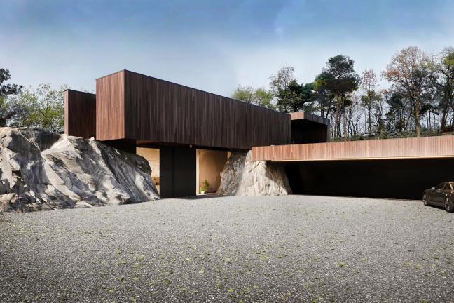 Dom między skałami