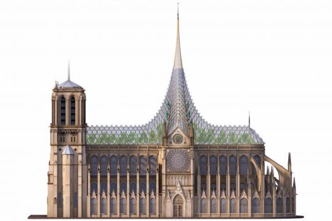 Organiczny dach w Notre Dame