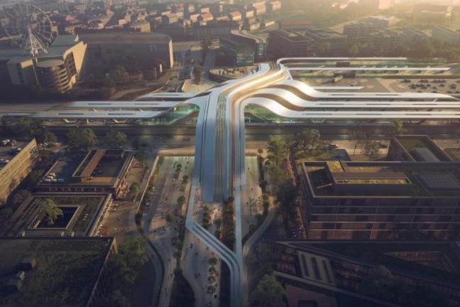 Niezwykły dworzec projektu Zaha Hadid Architects