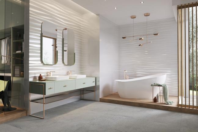 Białe łazienki w nieszablonowym wydaniu