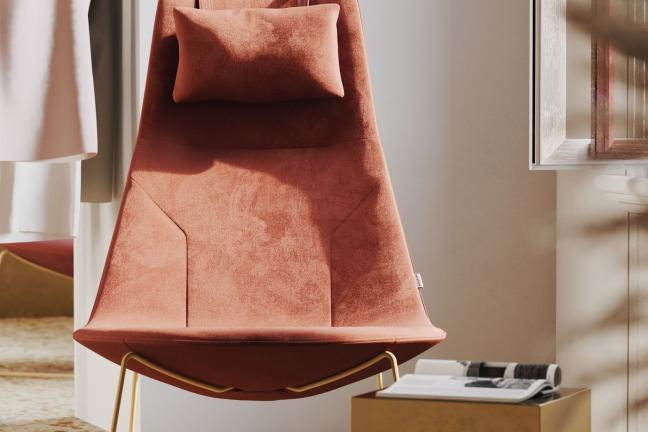 Fotel morelowy Chic lounge w biurze — jakie krzesło wybrać do biura i domu?
