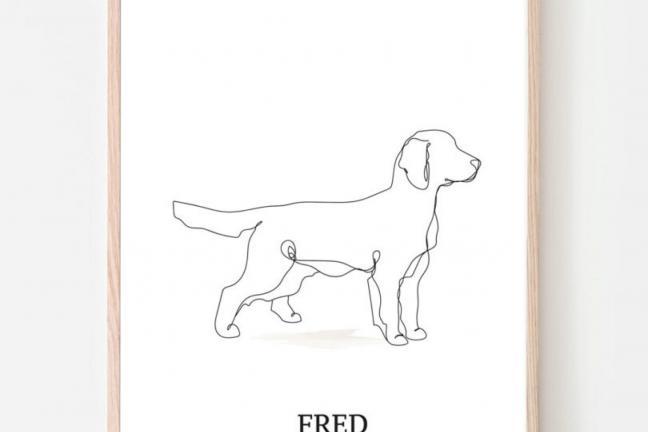 Ilustracja z psami w roli głównej