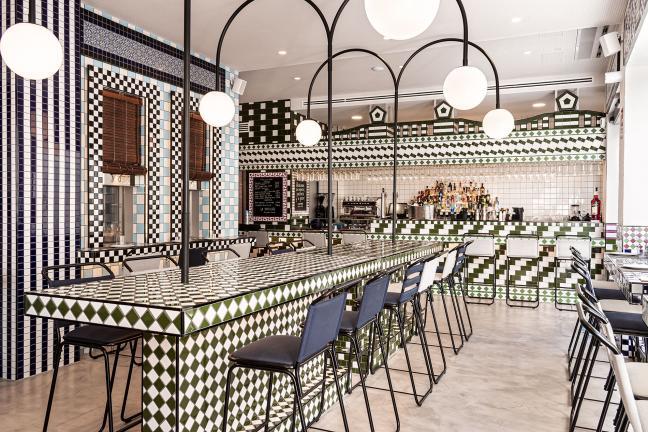 Płytka do płytki – niezwykłe wnętrze restauracji w Walencji