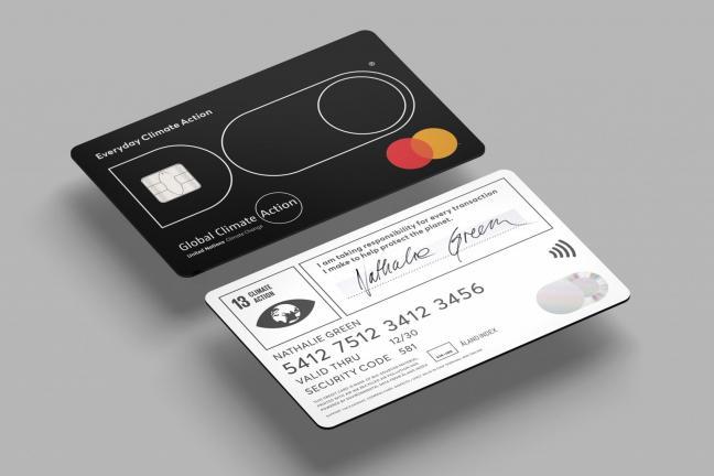 Card with carbon-emission spending limit