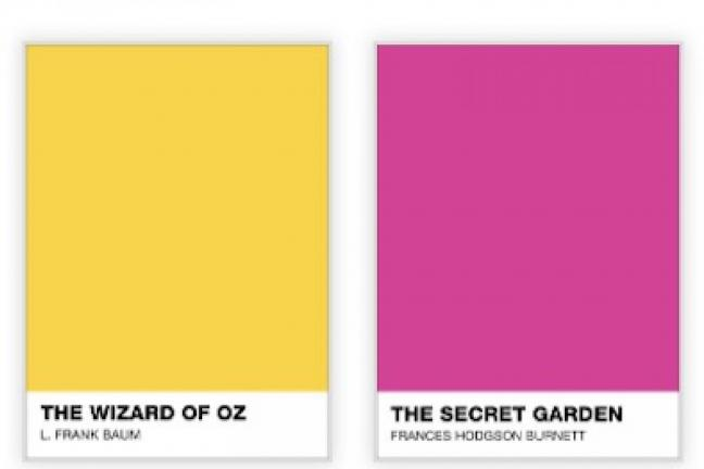 Książki w kolorach Pantone