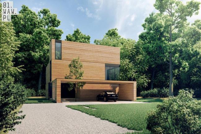 Dom Yenga z drewnianych klocków