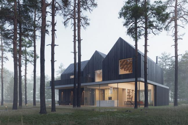 Dom inspirowany świdermajerami