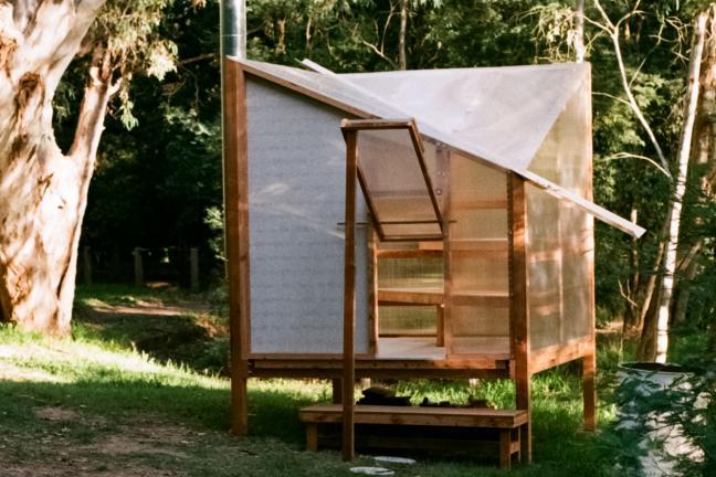 Sauna that you pack in a flat box