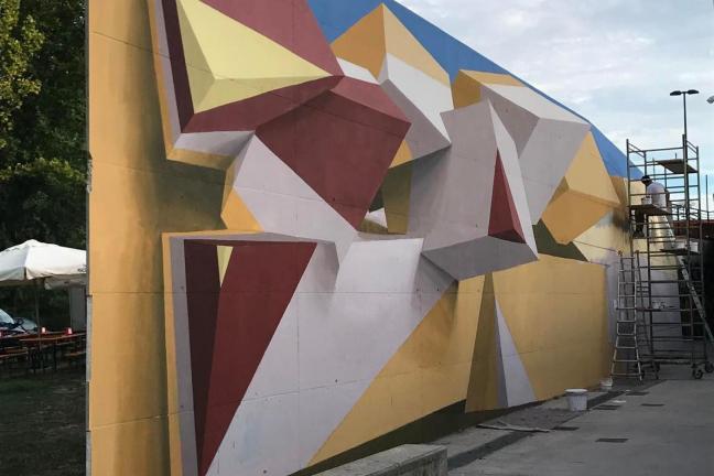Iluzja na muralu