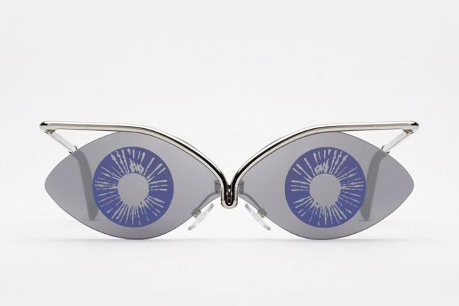 Sunglasses with illustrations by Andy Warhol