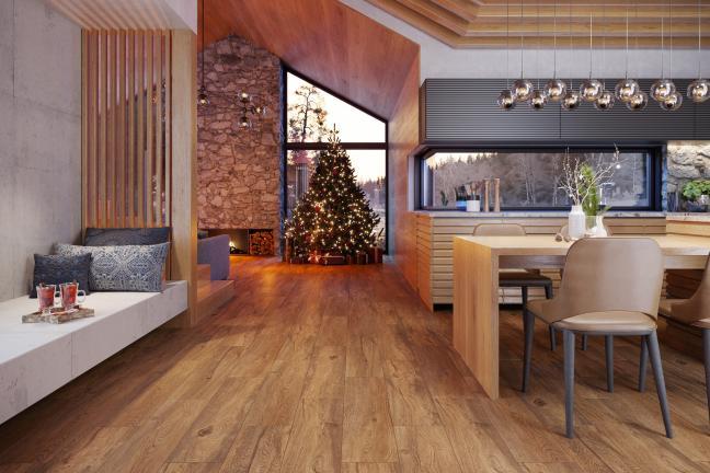 Przytulny dom na Święta i nie tylko – płytki inspirowane drewnem  z serii Wood Concept od Opoczno