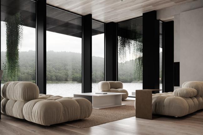 Dom na brzegu jeziora