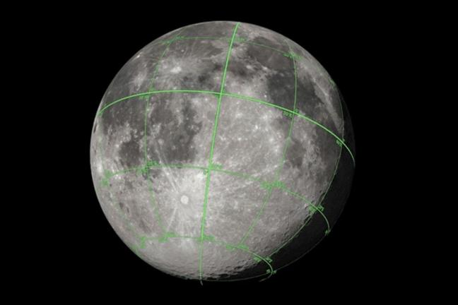 NASA presents an accurate map of the moon