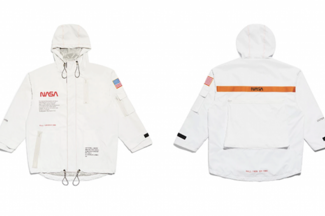 A space collection of clothes from NASA