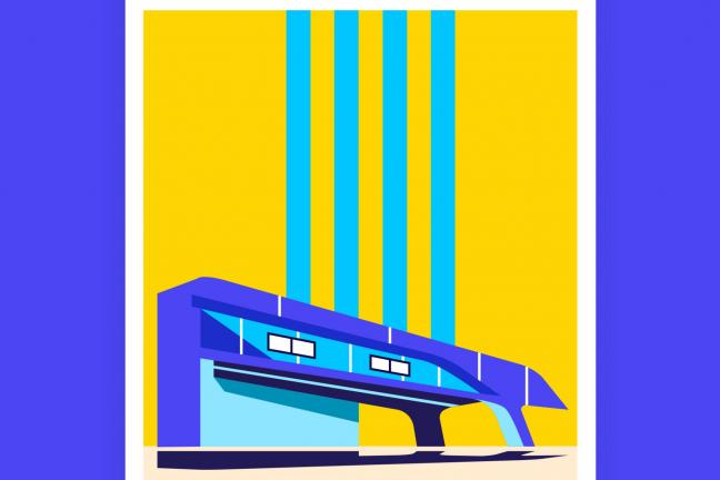 The most iconic buildings of Zaha Hadid on posters