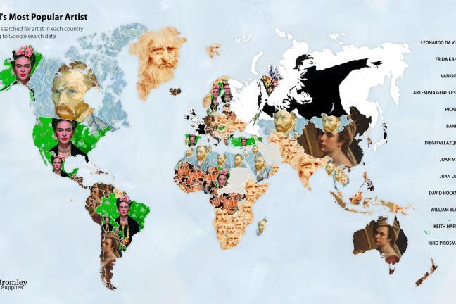 Jaki artysta jest najbardziej popularny w danym kraju?