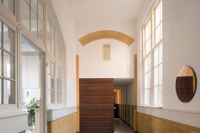 A flat in an old school