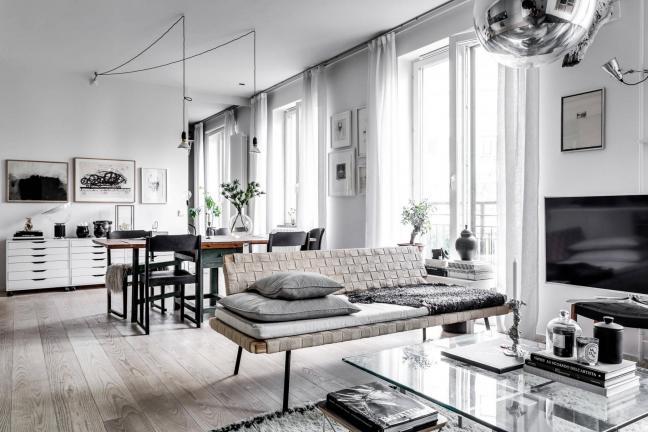 Skandynawskie mieszkanie dla rodziny