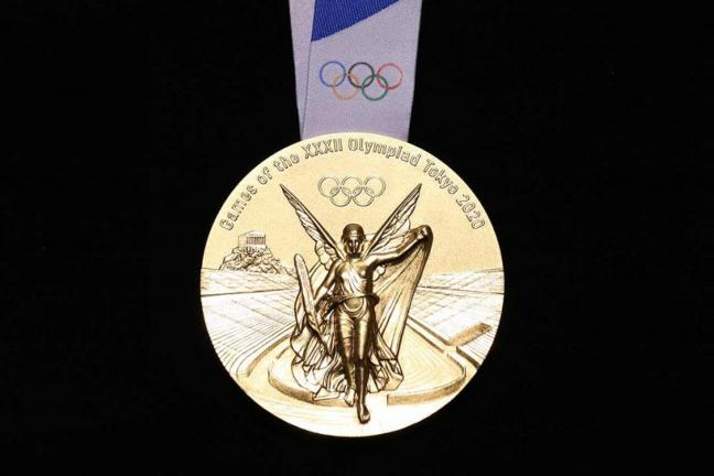 Olimpijski medal z recyklingu