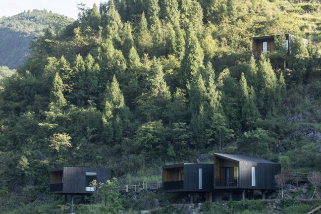 An unusual hotel in the Chinese mountains