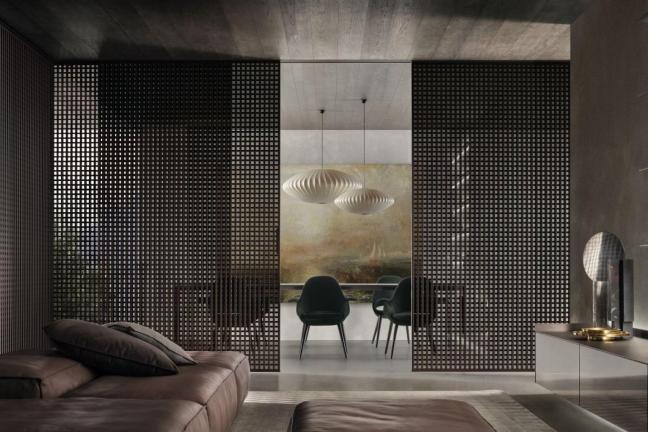 Przestrzeń podzielona szkłem