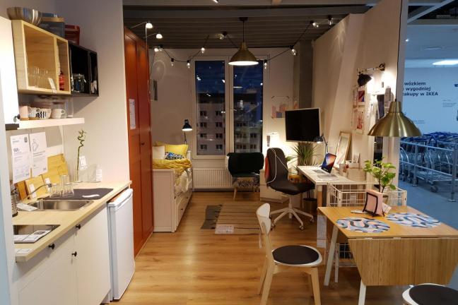 Krakowski akademik urządzony meblami z IKEA
