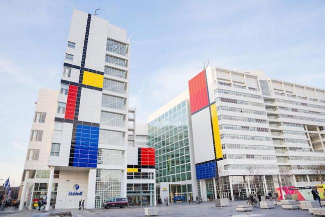 Mondrian on the streets of The Hague
