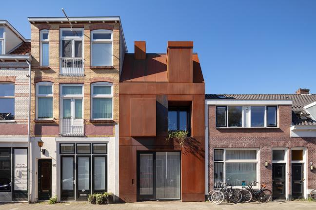 Dom ze stalową fasadą