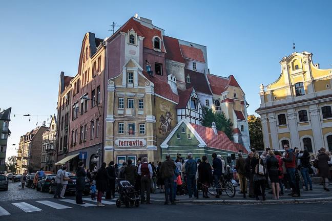 Mural 3D w poznańskiej Śródce