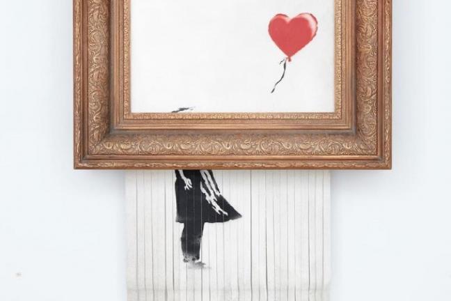 Banksy pokazał kulisy zniszczenia obrazu