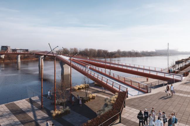 W Warszawie powstanie jeden z najdłuższych mostów pieszo-rowerowych świata