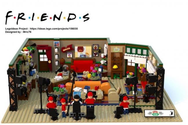 """Kawiarnia z serialu """"Przyjaciele"""" z Lego"""