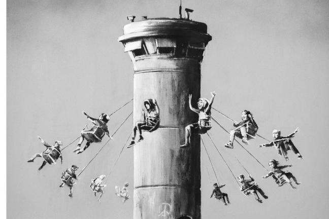 Banksy udostępnia swój plakat za darmo
