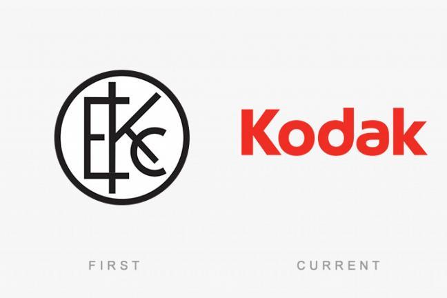 Pierwsze i aktualne logo słynnych marek