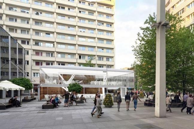 Nowy pawilon w centrum Warszawy