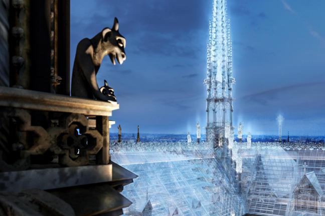 Projektanci sklepów Apple proponują szklany dach Notre Dame